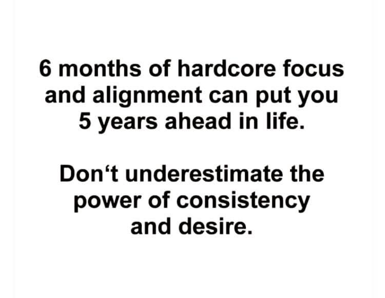 [image] Don't underestimate the power of hardwork and the desire to succeed.