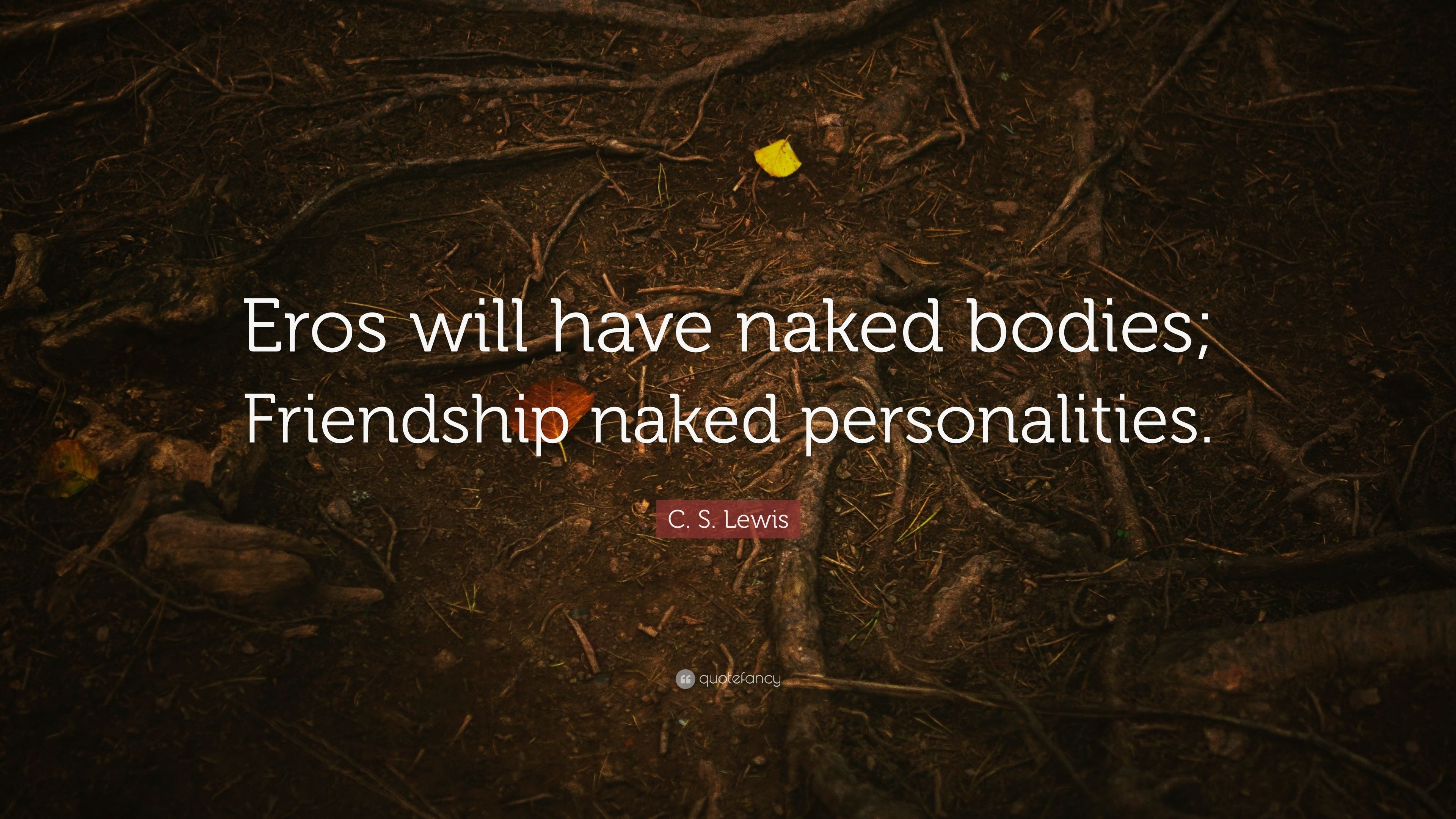 """Eros will have naked bodies; friendship naked personalities."" -C.S. Lewis [3840×2160]"