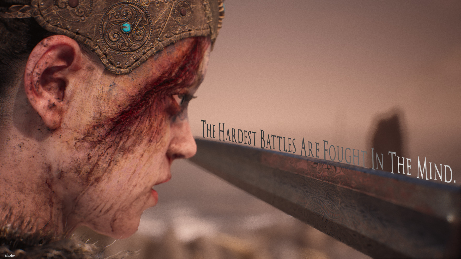 """The hardest battles are fought in the mind."" – Hellblade: Senua's Sacrifice [1920×1080] [OC]"