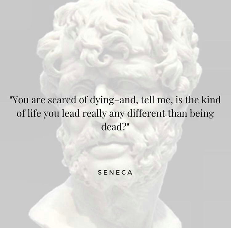 'You are scared of dying – and, tell me, is the kind of life you lead really any different from being dead?' Seneca. [750 x 740]