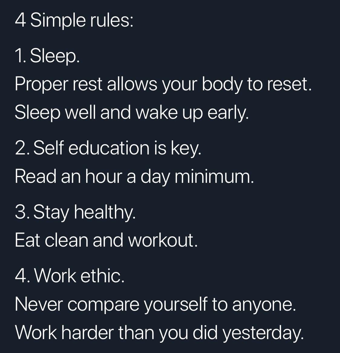 [image] 4 Simple rules