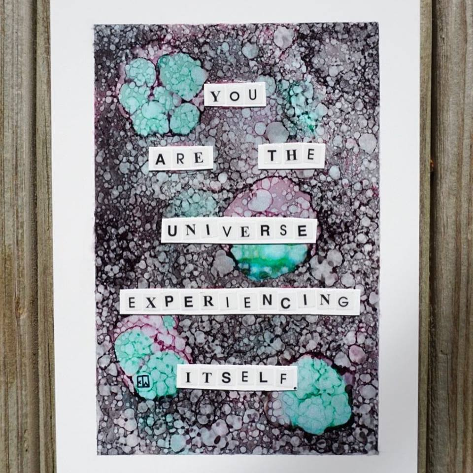 """You are the universe experiencing itself."" – Alan Watts [960X960]. For sale."