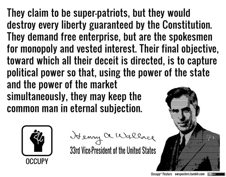 """They claim to be super patriots…"" Henry A. Wallace [736×576]"