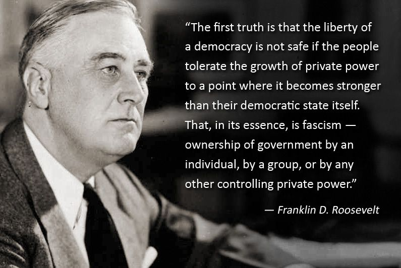 """The First Truth is that the liberty of a Democracy is not safe if.."" Franklin D. Roosevelt [795X532]"