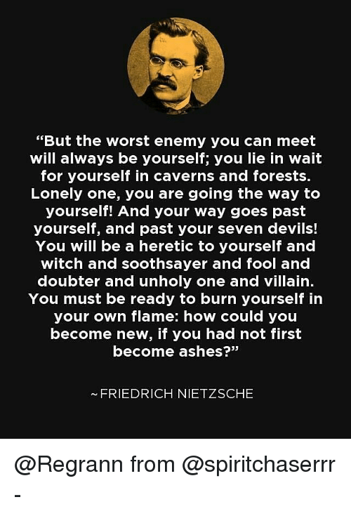 [Image] you must be ready to burn yourself