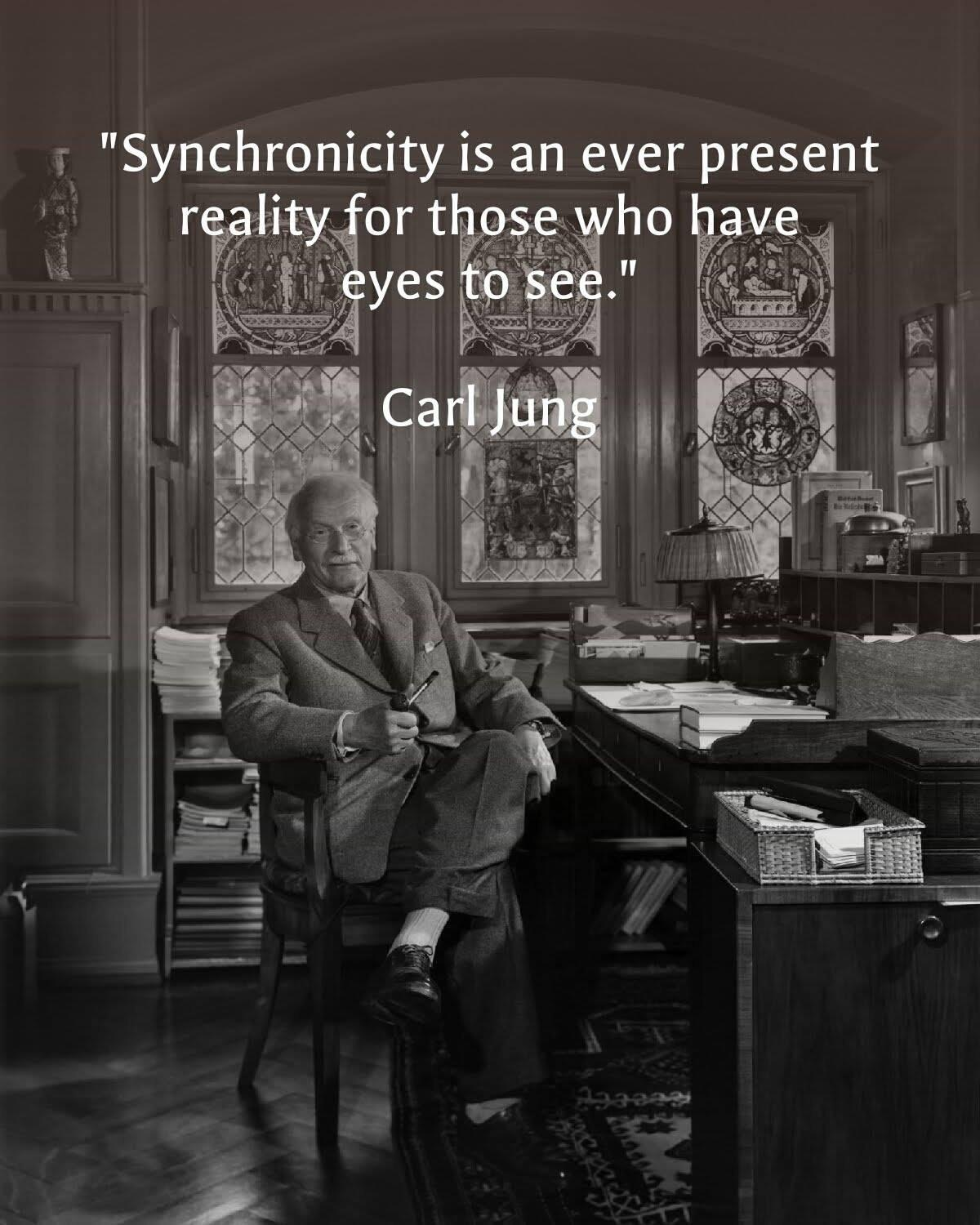 """Synchronicity is an ever present reality for those who have eyes to see."" – Carl Jung [1200 x 1500]"