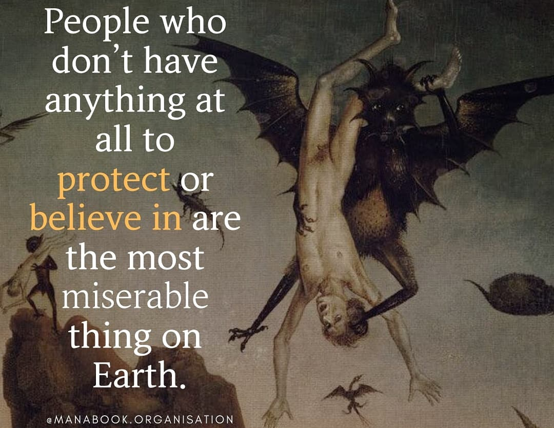 """""""People who don't have anything at all to protect or believe in are the most miserable thing on Earth."""" – manabook [1080×834]"""