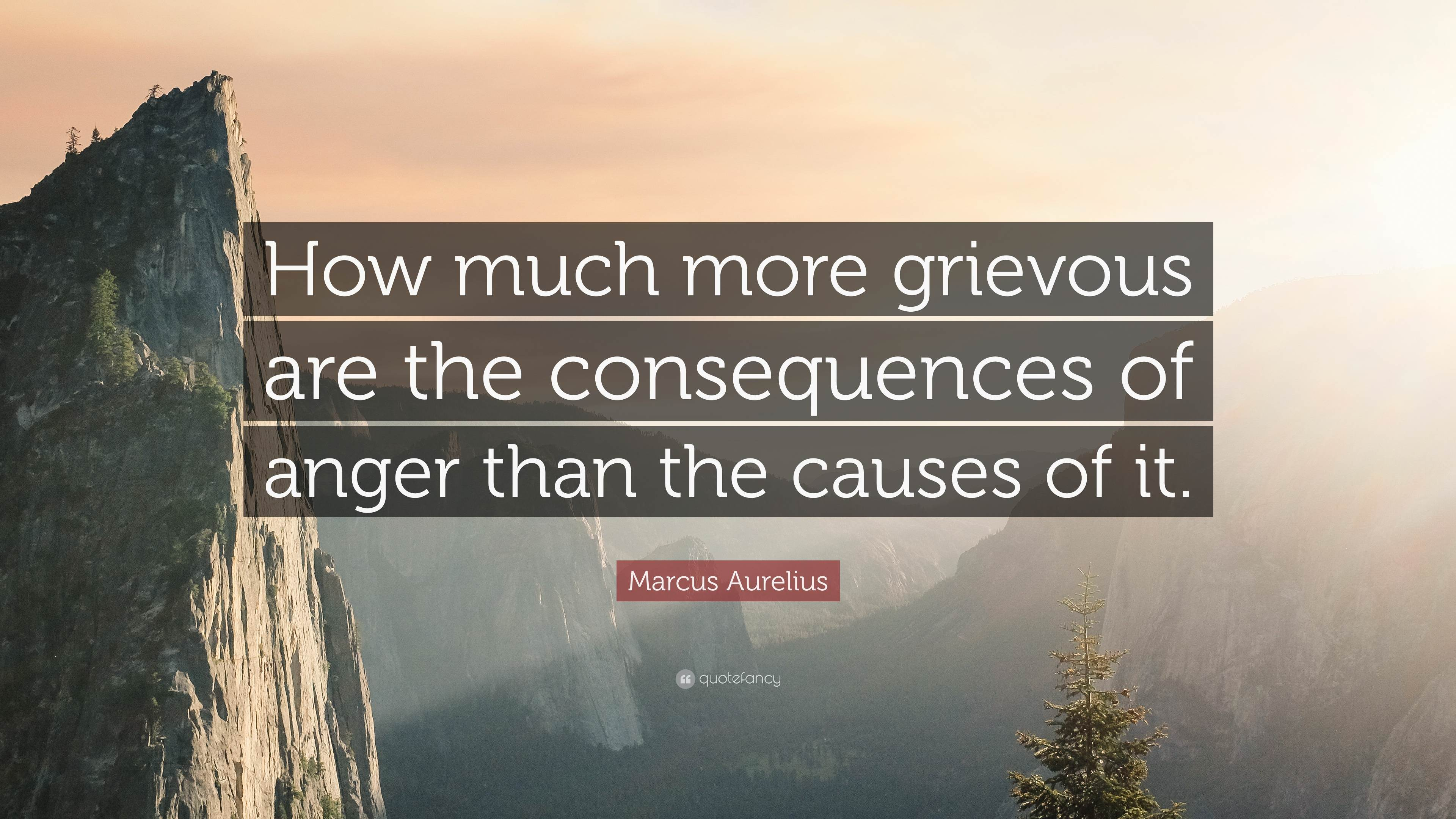 """How much more grievous are the consequences of anger than the causes of it."" – Marcus Aurelius [3840×2160]"