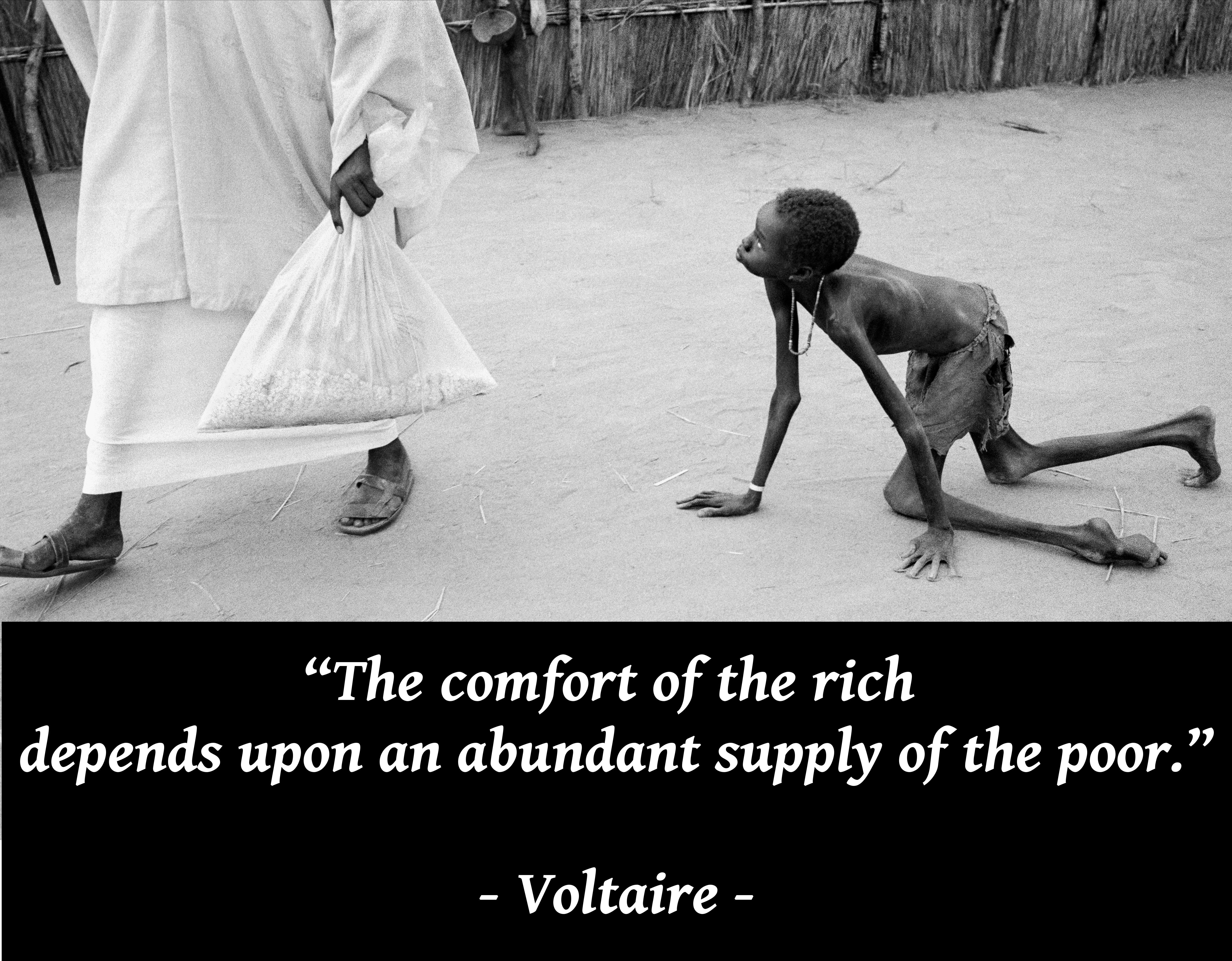 """The comfort of the rich depends upon an abundant supply of the poor."" – Voltaire [OC] [5088X3968]"