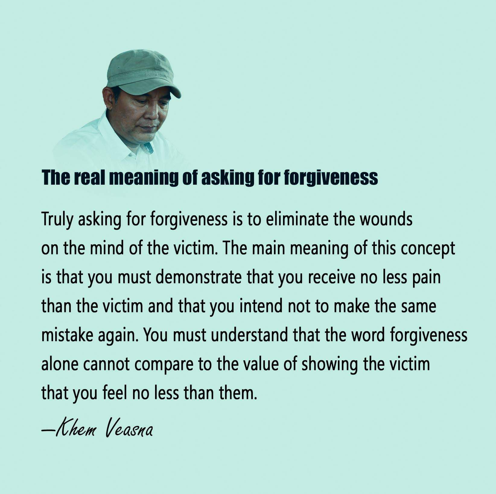 The real meaning of asking for forgiveness …. .khem veasna. [1644 x 1637]