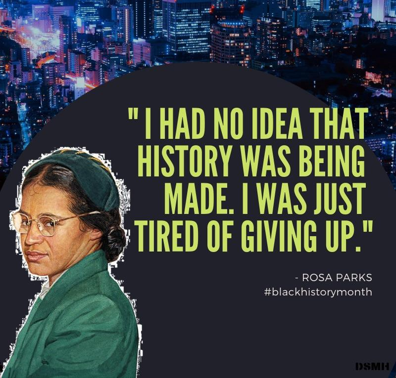 """I had no idea that history was being made…"" -Rosa Parks [800×765]"