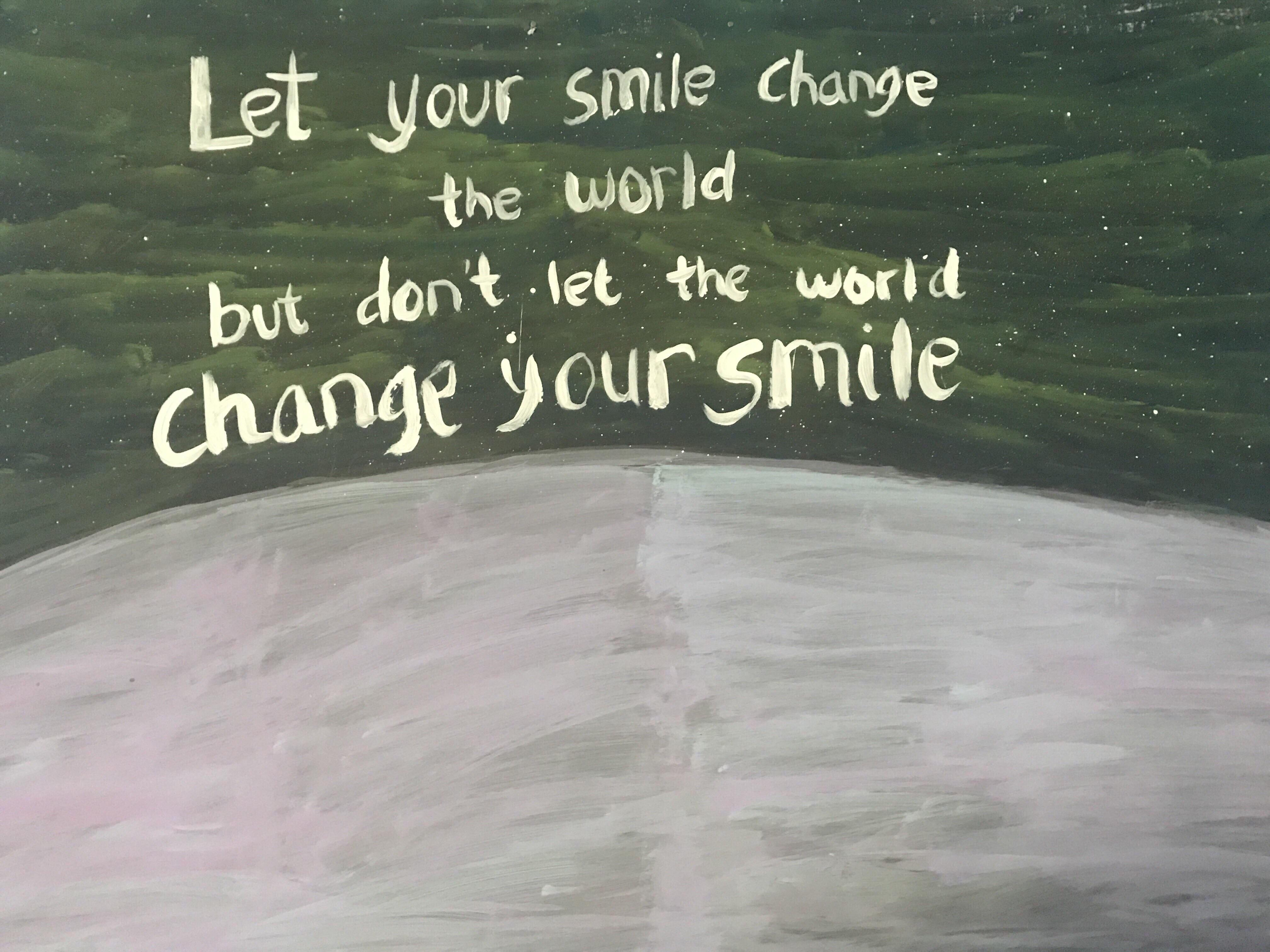 Let your smile change the world but dont let the world change your smile ~ Connor Franta [ 4032×3024 ]