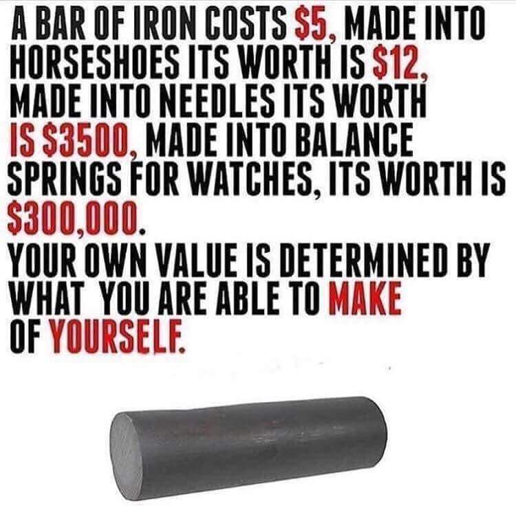 [Image]It all depends on what you make out of yourself.