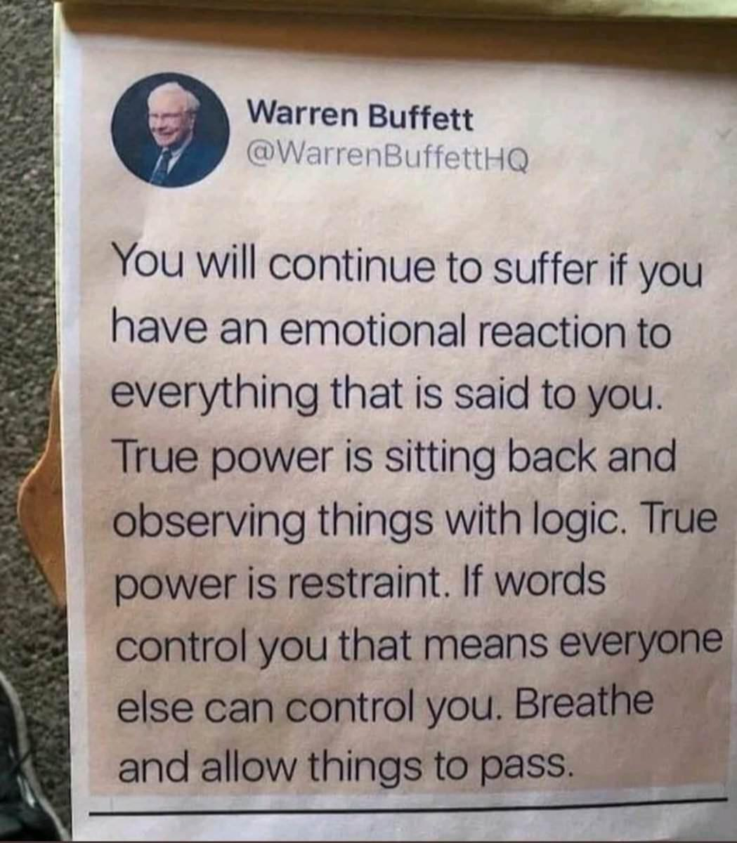 If words control you then everyone can control you [Image]