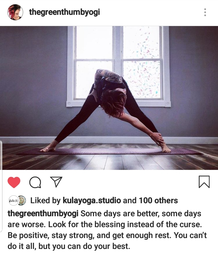 [image] One of the reasons i built my wife a yoga studio is because she is such an inspiration to so many. (her IG post yesterday)