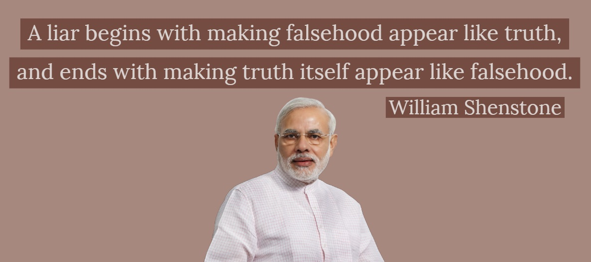 """A liar begins with making falsehood appear like truth, and ends with making truth itself appear like falsehood."" – William Shenstone [1187×527]"