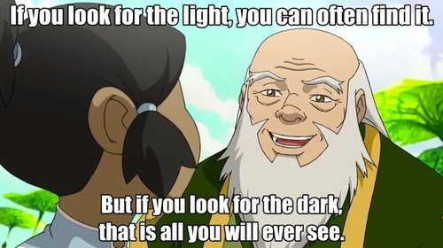 [Image] If you look for the light, you can often find it