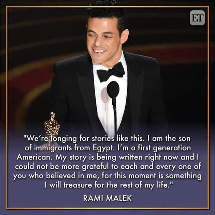 [Image] Rami Malek's Oscar acceptance speech