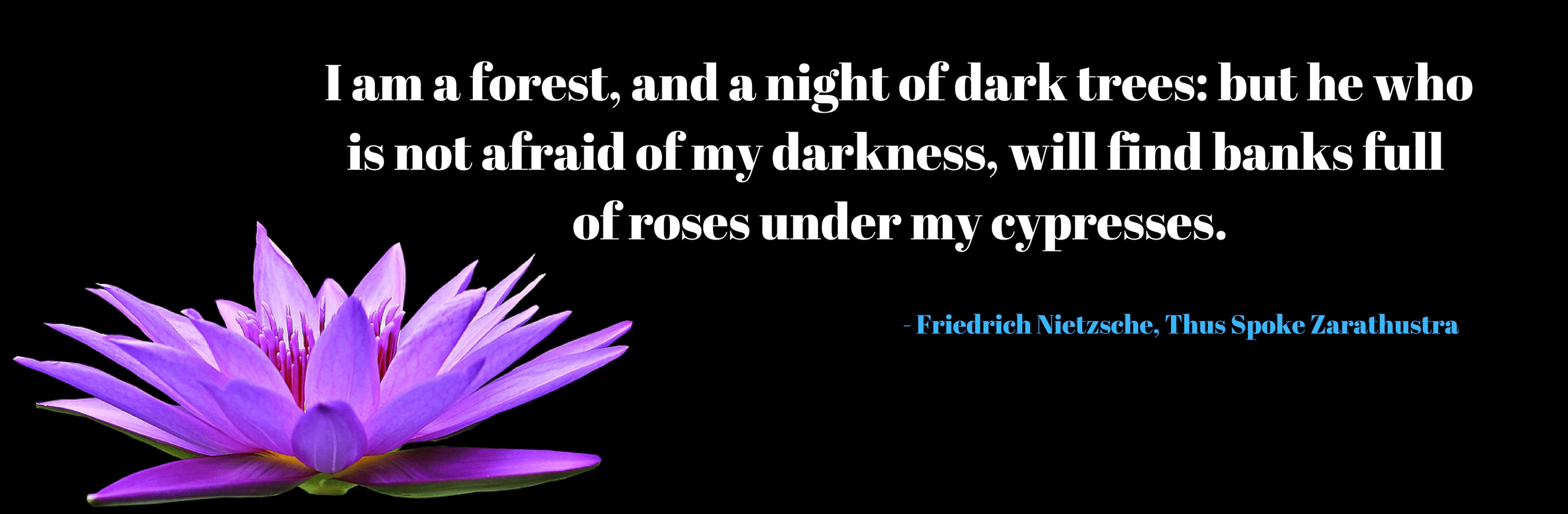 I am a forest by Friedrich Nietzsche [3840 x 1260]