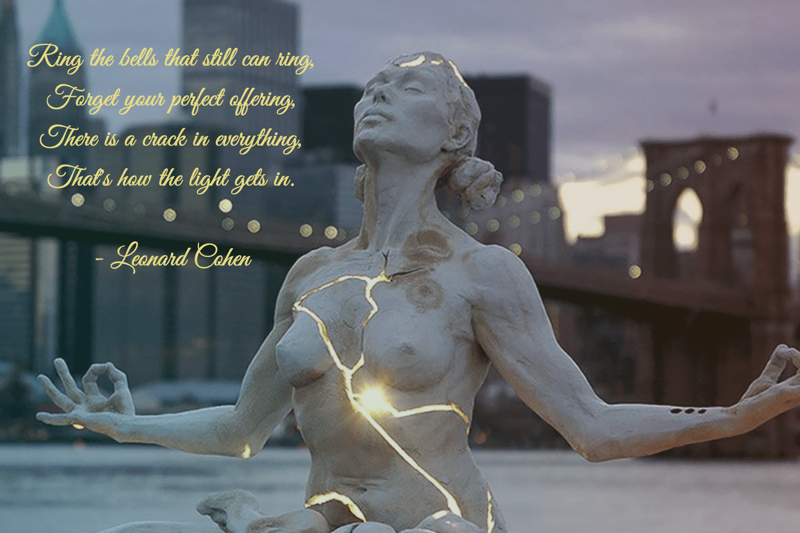 """That's how the light gets in."" -Leonard Cohen [1620×1080]"
