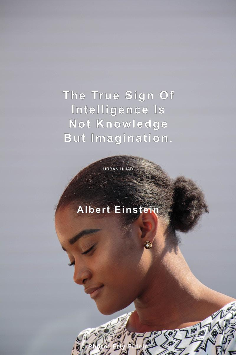 The true sign of intelligence is not knowledge but imagination. Albert Einstein [OC] [800 × 1200]