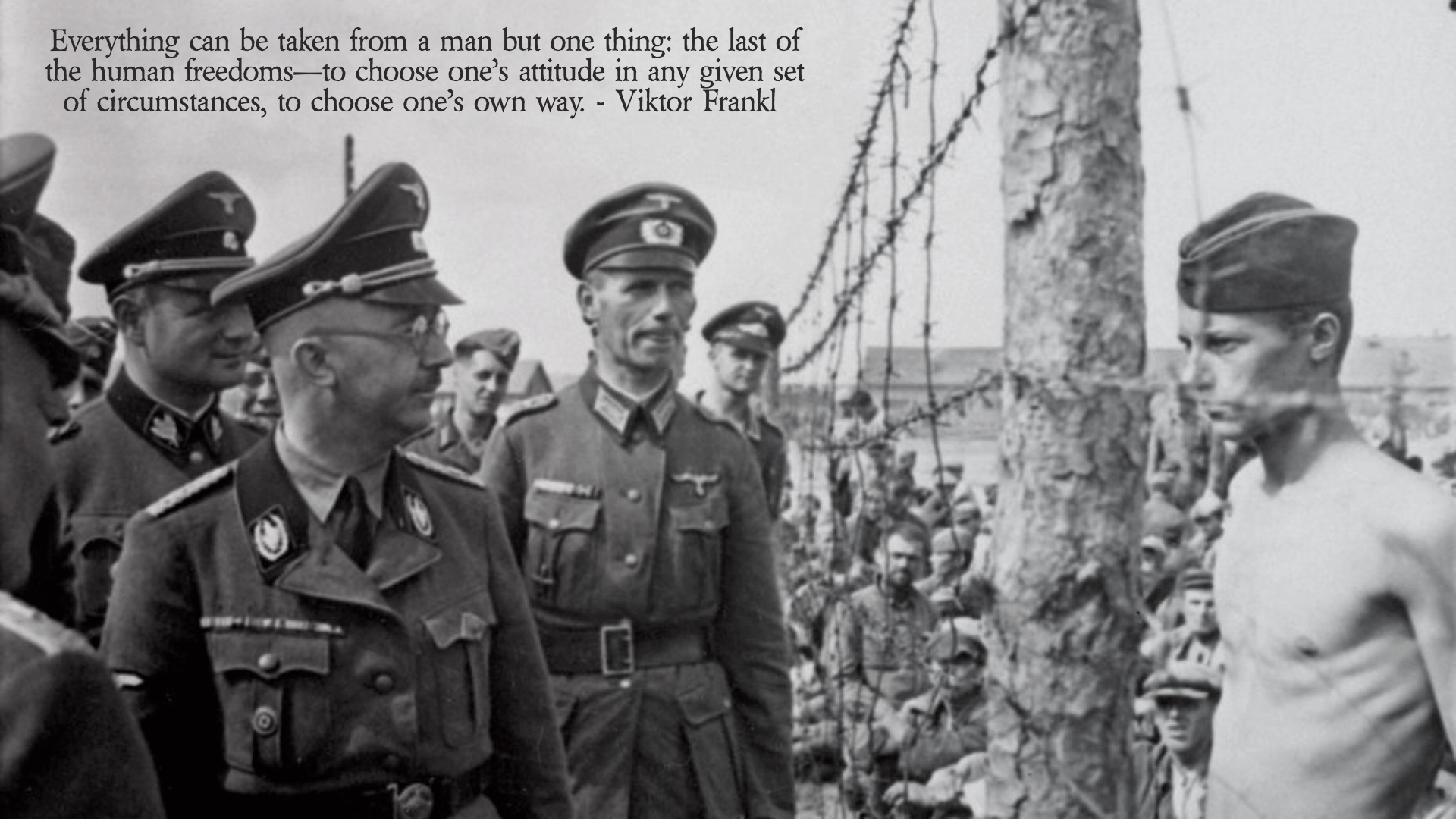 """Everything can be taken from a man but one thing."" – Viktor Frankl [1920×1080]"