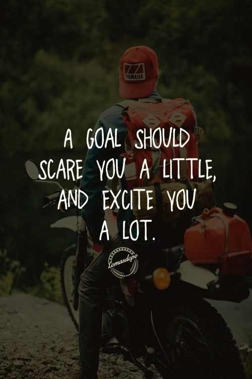 """ A goal should scare you a little and excite you a lot"" Lomasdope [500*750]"