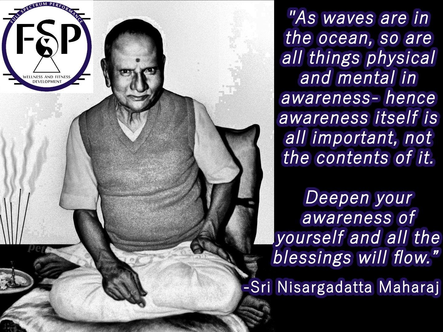 """As waves are in the ocean, so are all things physical and mental in awareness…"" -Sri Nisargadatta Maharaj [1440 x 1080]"