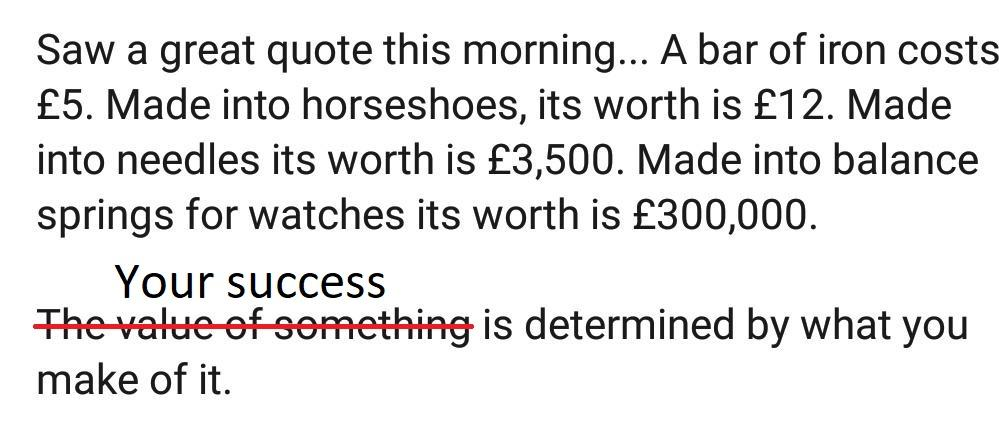 [Image] Your success is determined by what YOU make of it.