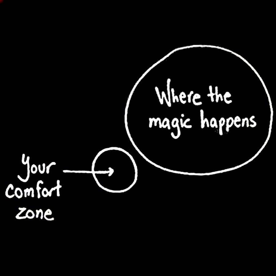 [IMAGE] Life begins at the end of your comfort zone. Who knows what you will achieve if you just make that leap