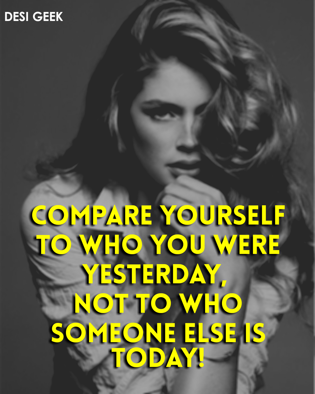 Compare yourself to who you were yesterday, not to who someone else is today. – Jordan Peterson, Source : https://ift.tt/2JfWv8A