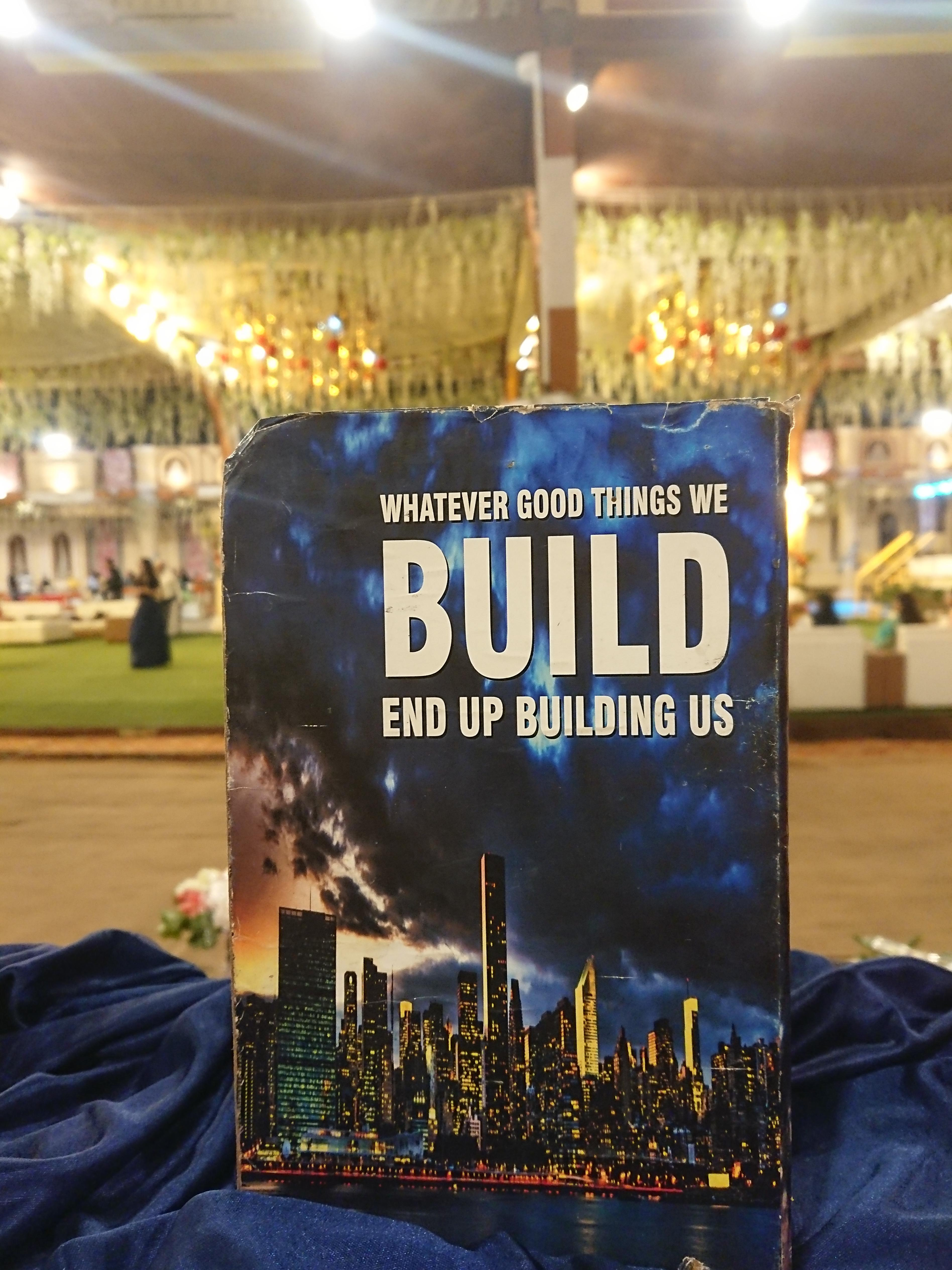 Whatever good things we build end up building us – On a dummy book at an Indian Wedding. [5056X3792]