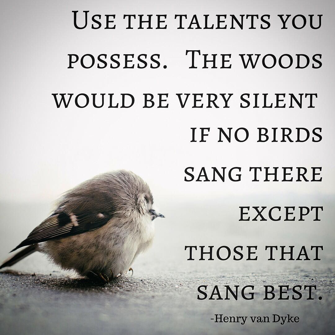 """The woods would be very silent if no birds sang there except those that sang best"" – Henry Van Dyke [1080×1080]"