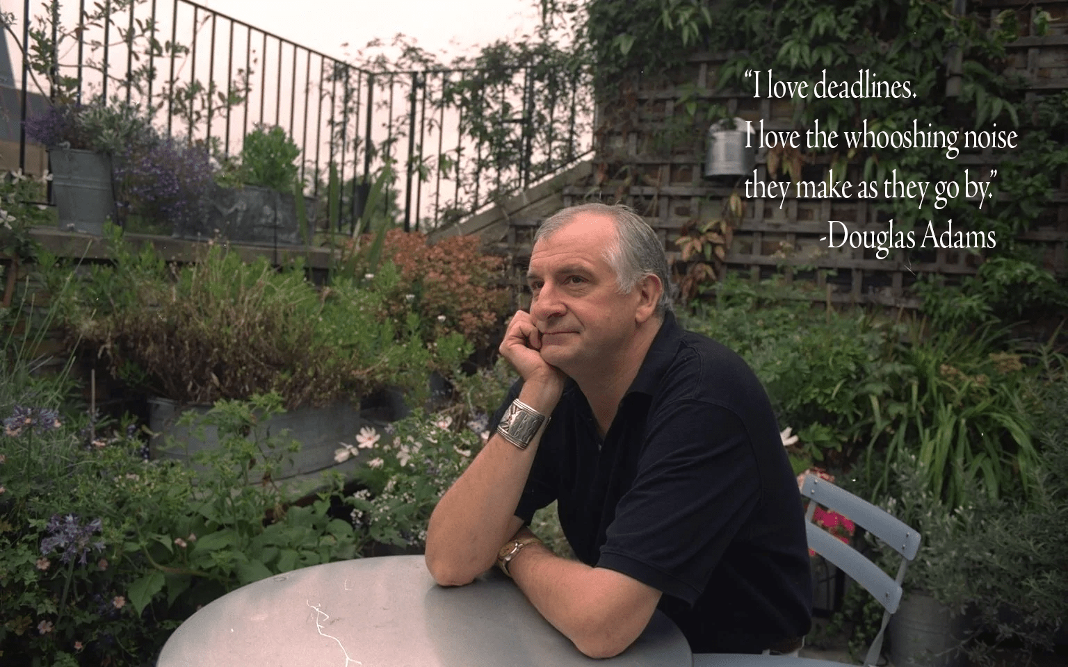 """I love deadlines. I love the whooshing noise they make as they go by."" – Douglas Adams [1536×960]"