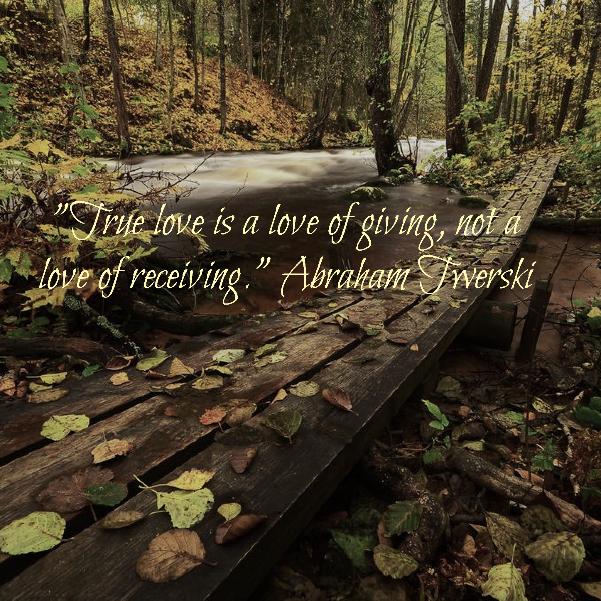 """True love is a love of giving, not a love of receiving."" Abraham Twerski [2048×2048]"