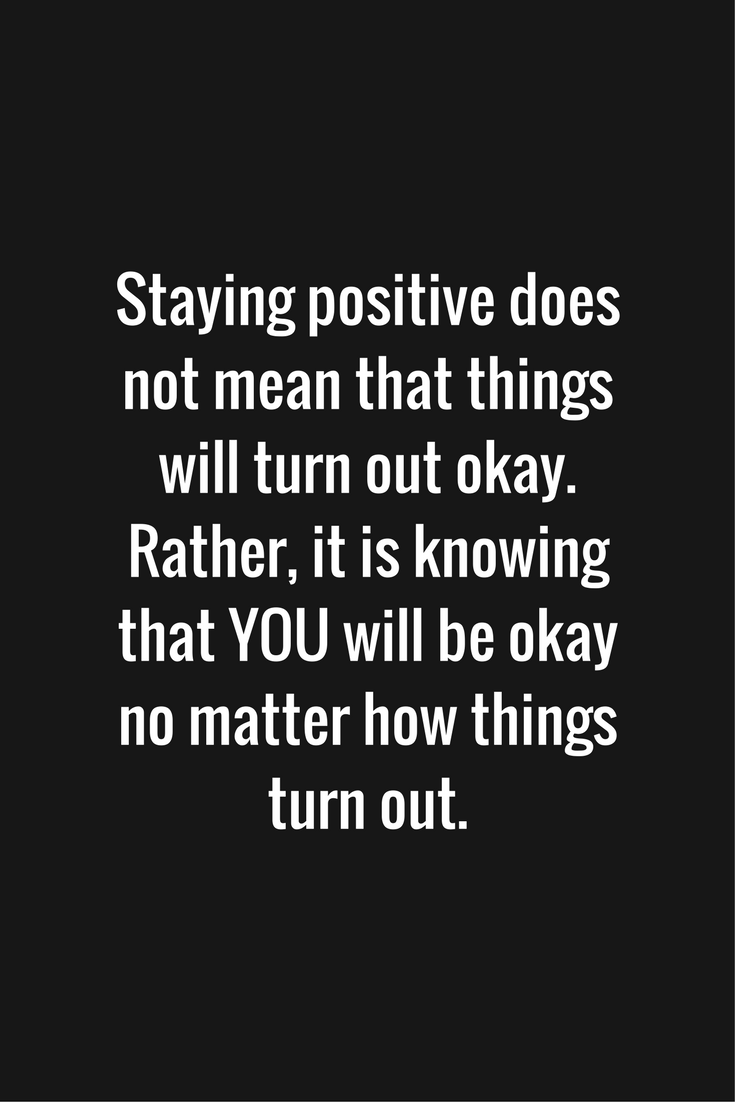 Staying positive [image]
