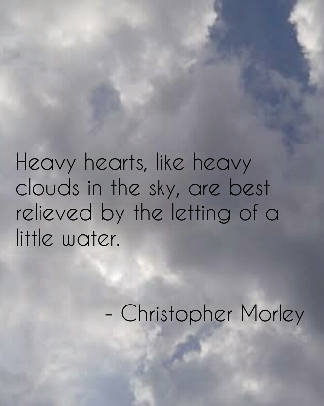 """Heavy hearts, like heavy clouds…"" – Christopher Morley [656×820]"