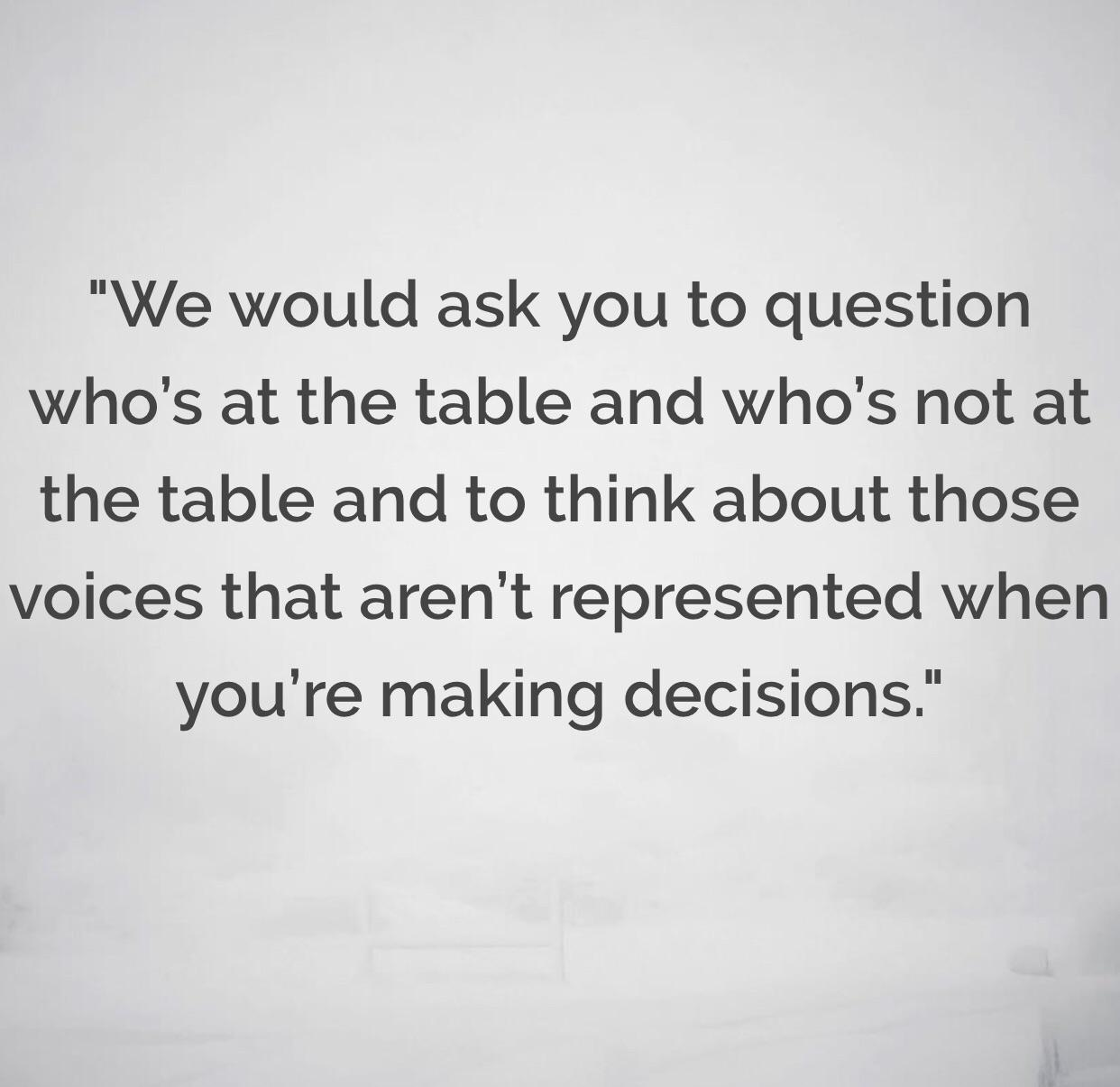[Image] The decisions you do for the unseen people you represent will certainly get you motivated