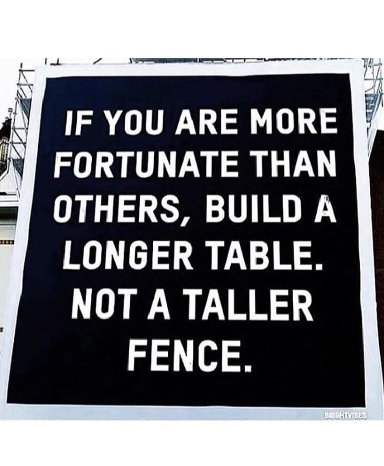 [Image] Build A Longer Table, Not A Taller Fence