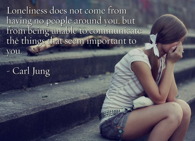 """Loneliness does not come from…"" – Carl Jung [3858×2801][OC]"