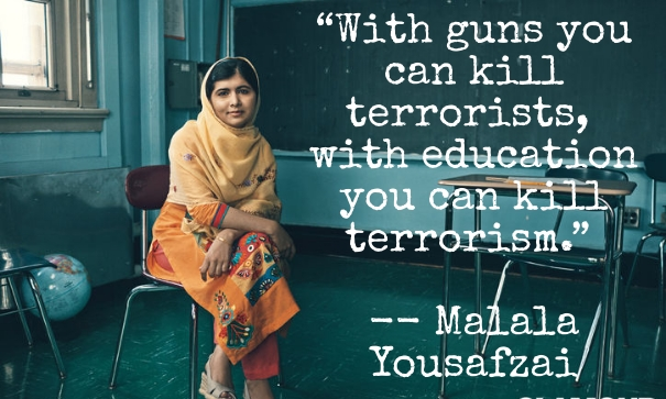 """With guns you can kill."" – Malala Yousafzai [605×363][x-post]"