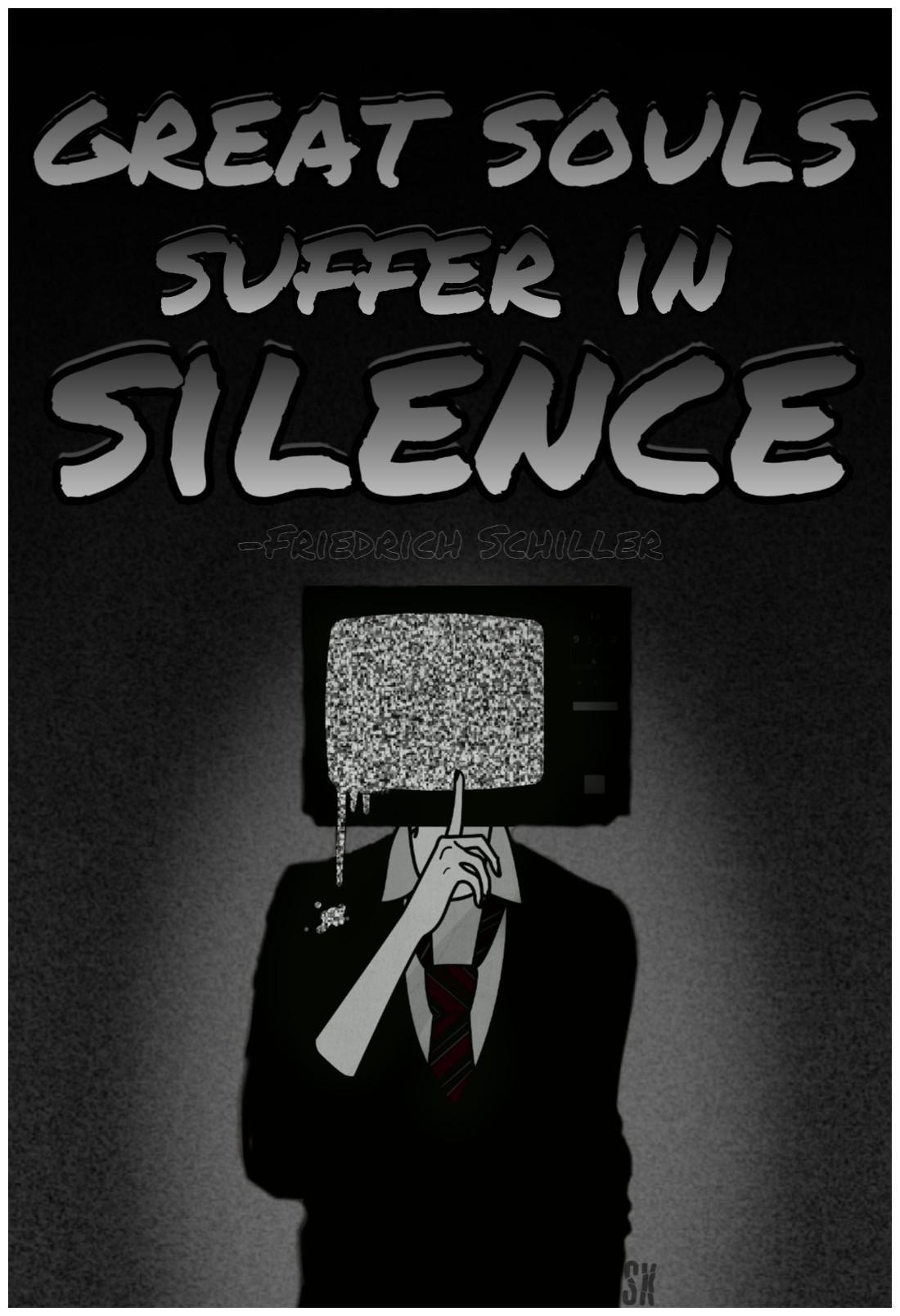 Great souls suffer in silence. -Friedrich Schiller. [1100×1609]