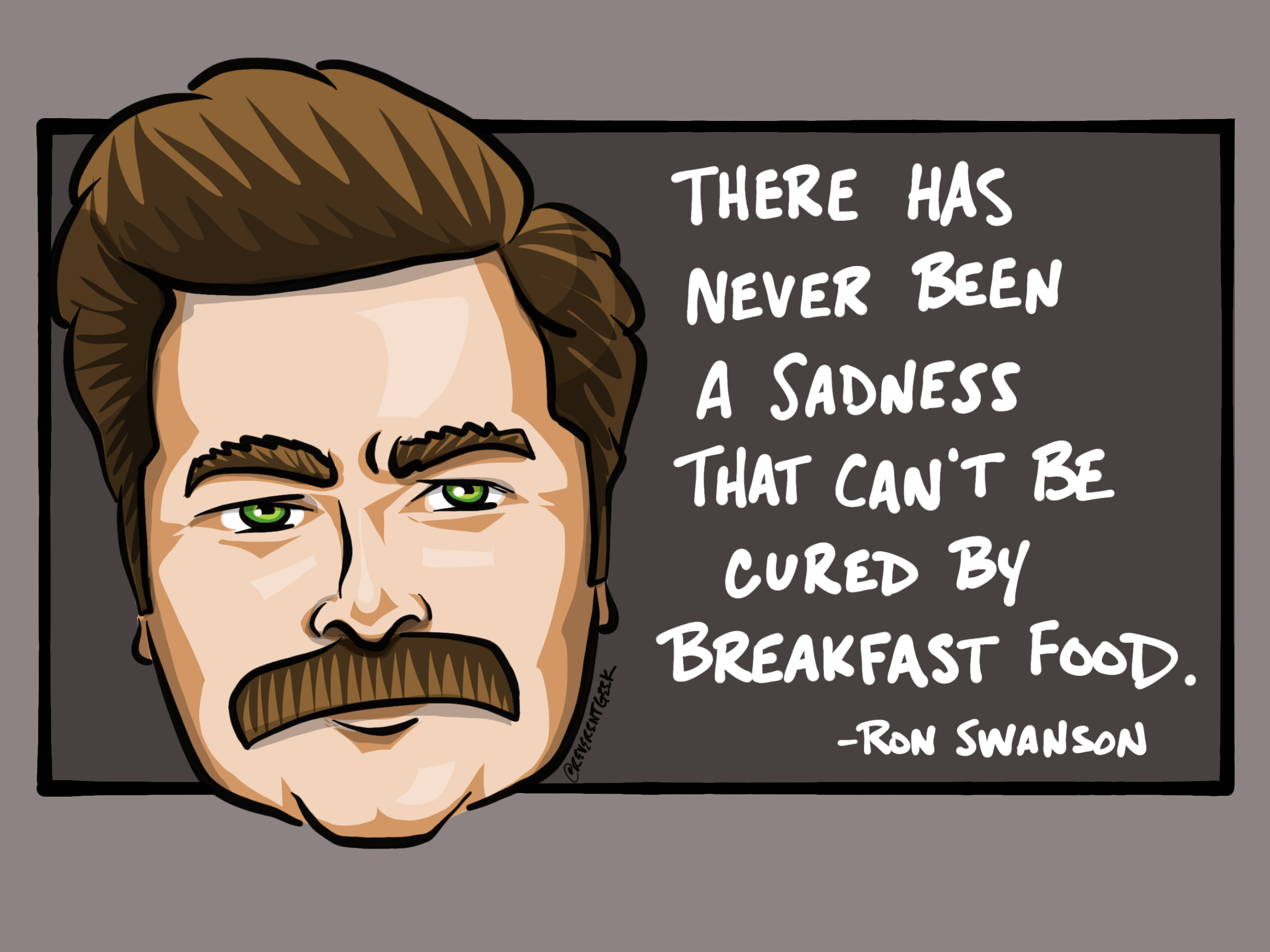 """There has never been a sadness…"" – Ron Swanson [2732×2048]"
