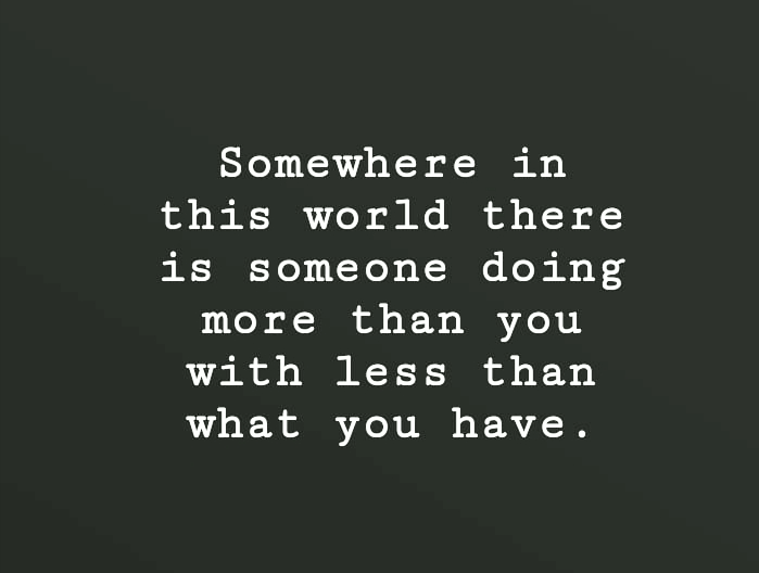 Work with what you have [Image]