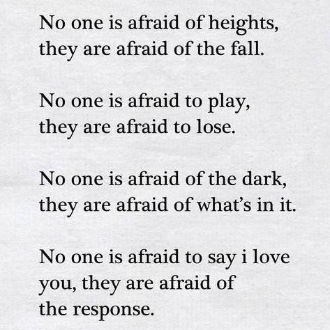 [image] What are we afraid of…..