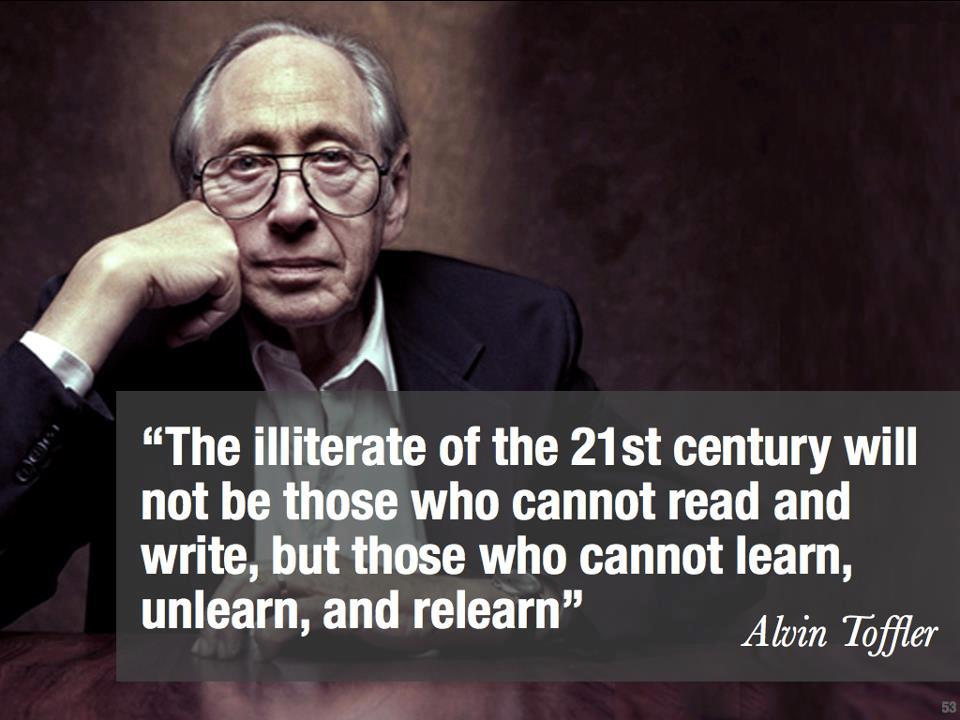 """The illiterate of the 21st century will not be those…"" -Alvin Toffler [960×720]"