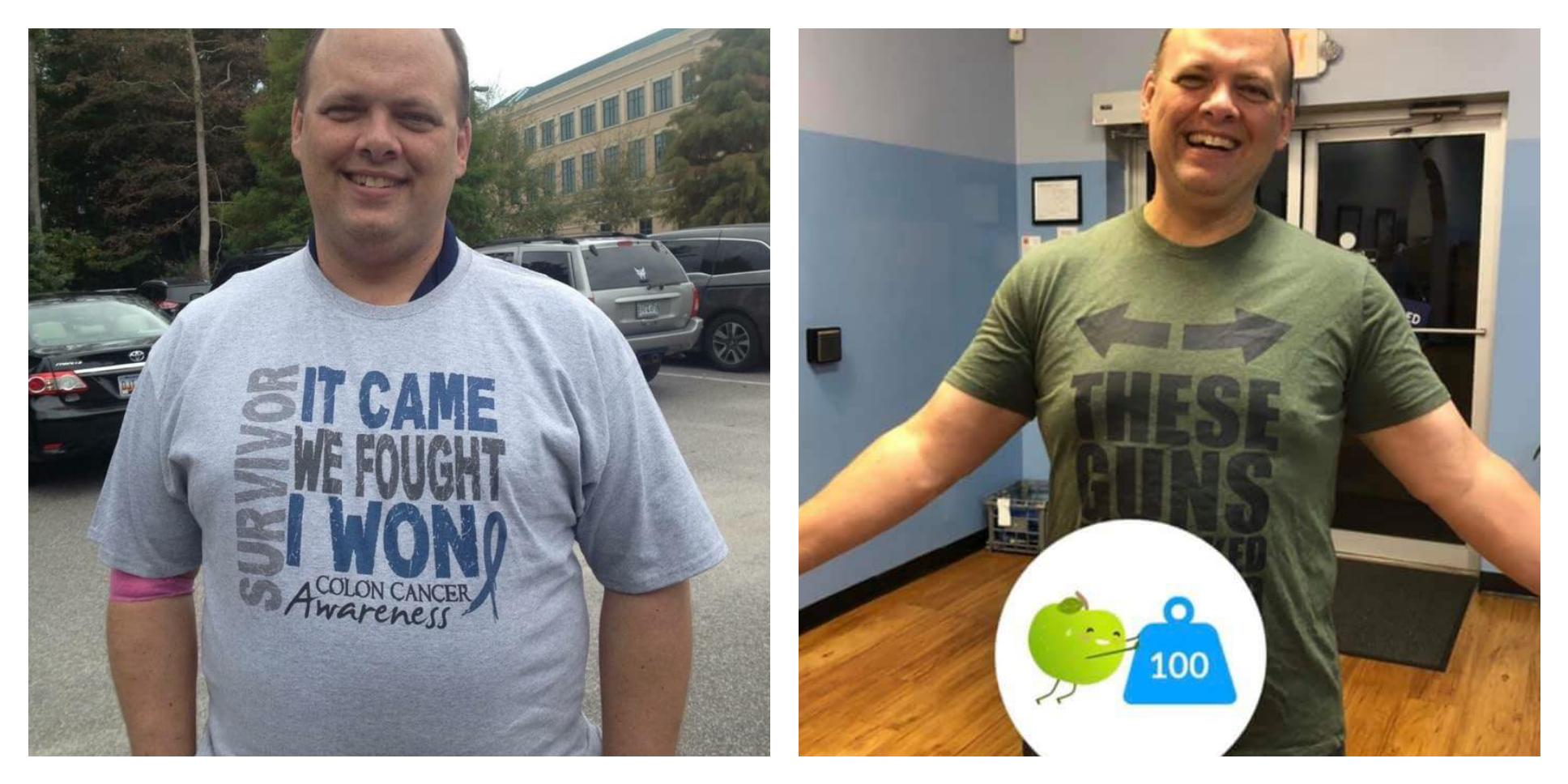 [Image] My dad lost 100 pounds this year. The doctor told him he didn't want him to be his first patient to go through chemotherapy AND a triple bypass.