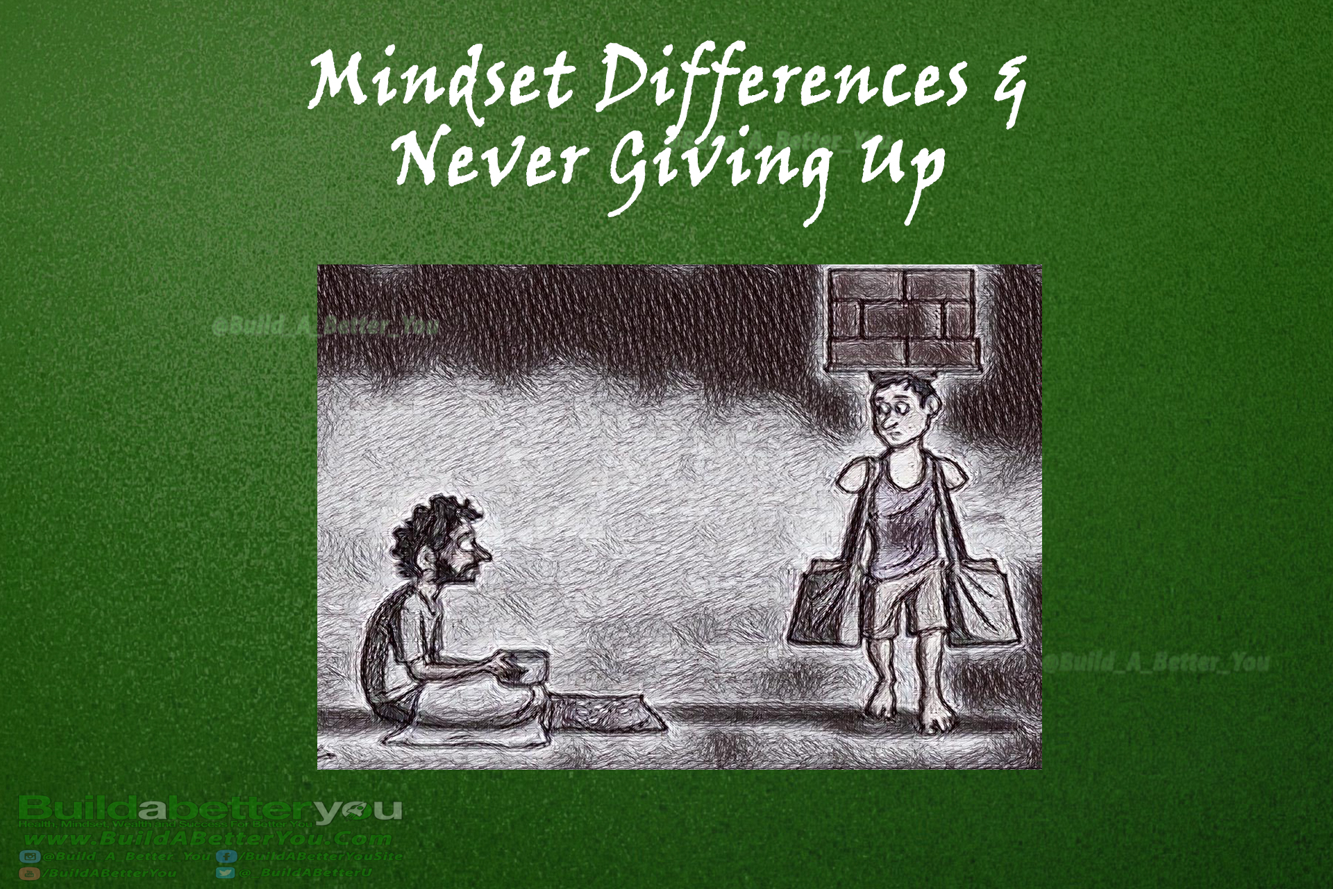 [Image] Mindset Differences and Never Giving Up