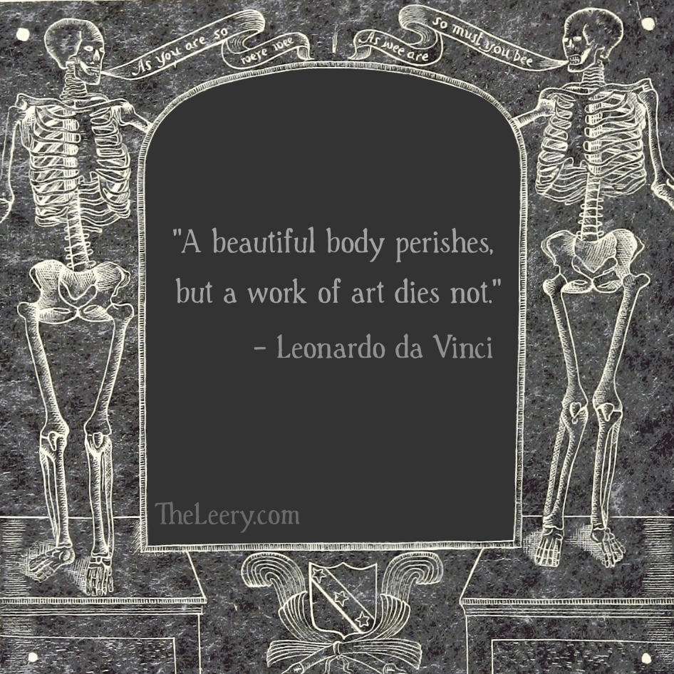 """A Beautiful Body Perishes…"" – Leonardo da Vinci. [946 x 946]"