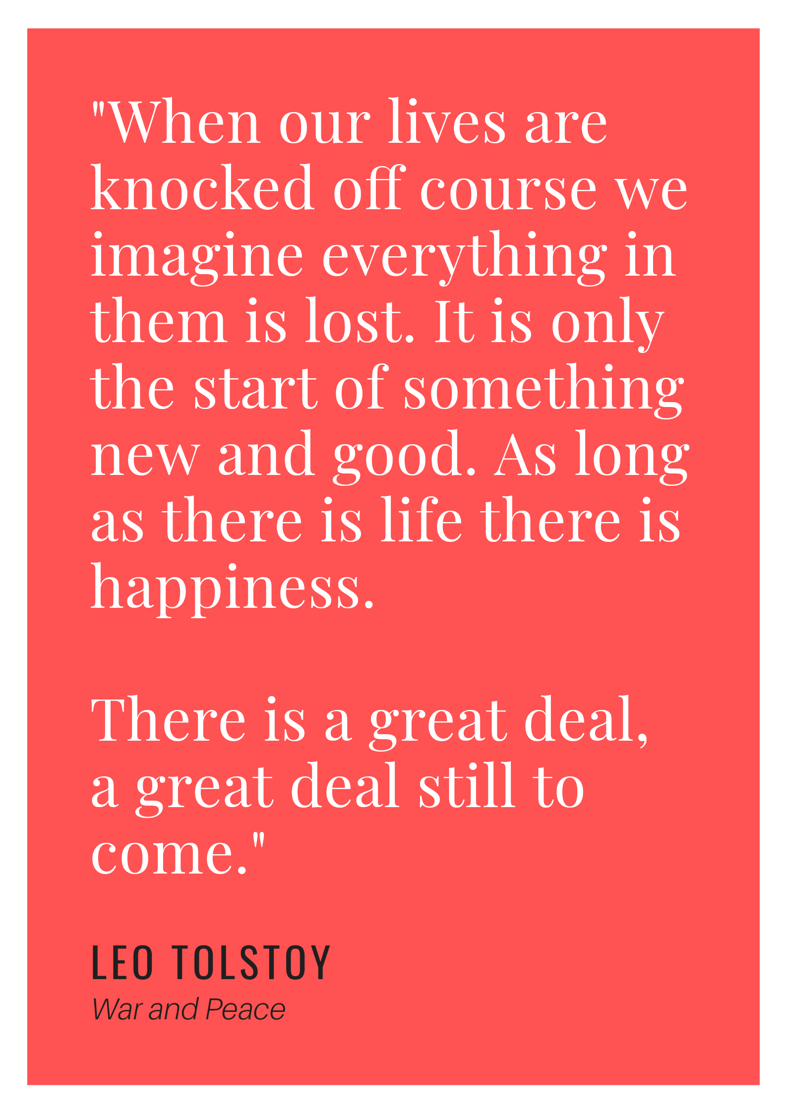 [image] There is a great deal, a great deal still to come.